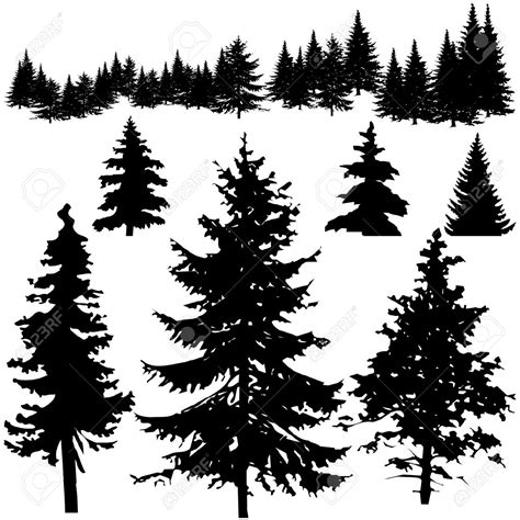 pine tree silhouette google search bears moose and