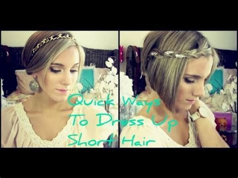 different fixing hairstyles quick ways to dress up short hair youtube