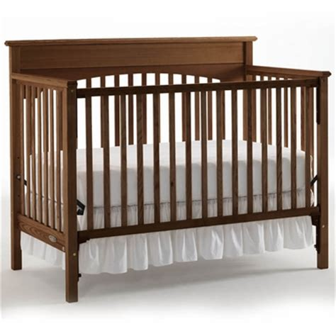 Graco Lauren 4 In 1 Convertible Crib In Walnut Free Shipping Walnut Baby Crib