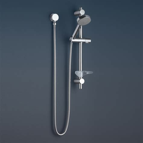 bath shower rails caroma essence bathroom wall single function rail shower wels chrome