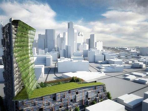 Entangled Bank Sustainable Urban Skyscraper For Dallas Architectural Design Vision