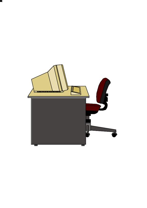Computer Desk Clipart Desk With Computer Clipart Clipartsgram