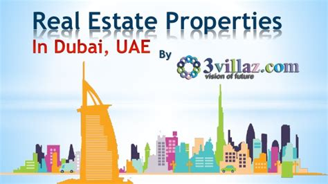 Mba In Real Estate Management In Dubai by Real Estate Properties For Sale In Dubai Uae 3villaz