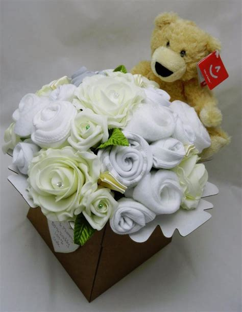 Bouquet Boneka Teddy Wisuda 1 neutral baby clothes bouquet gift teddy nappie cake baby shower maternity ebay