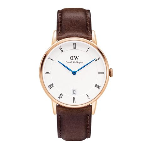 Leather 34mm Rosegold Dan Silver daniel wellington dapper bristol rosegold 34mm dw00100094 watchesdirect24 official
