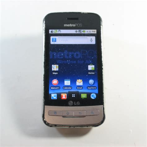 metro pcs android phones lg optimus m ms690 android 3g cdma phone metro pcs c stock ebay