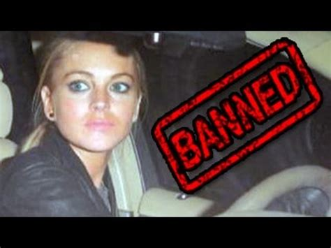 Lohans Banned From by Lindsay Lohan Banned