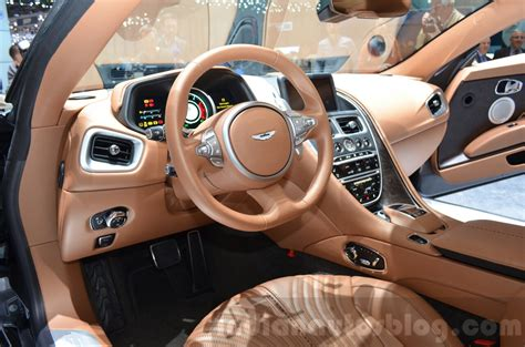 aston martin db11 interior aston martin db11 interior at the 2016 geneva motor show
