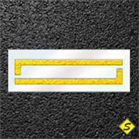 Intersection Crosswalk Stencil Large Paint Bar Sealcoating Com Crosswalk Paint Template