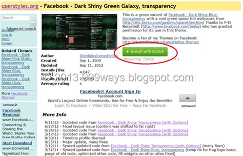 change themes facebook profile how to change your facebook theme 999ways