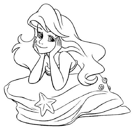 disney princess coloring pages ariel in a dress disney princess ariel coloring pages az coloring pages
