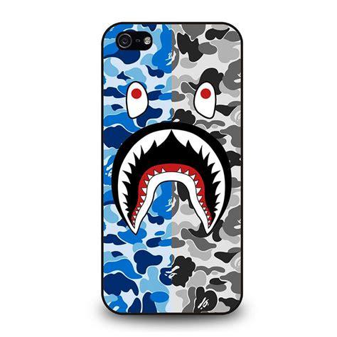 Iphone 8 Plus Bape Shark Camo Pattern Hardcas camo bape shark iphone 5 5s se best custom phone cover cool personalized design