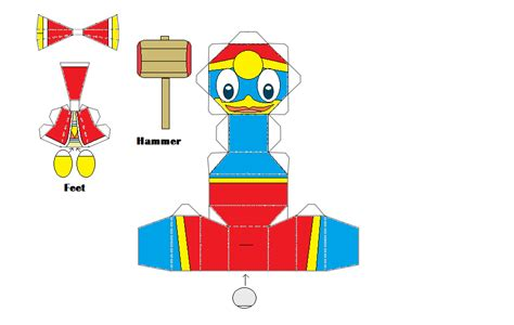 Kirby Papercraft - king dedede chibi papercraft by thestickfigureking on