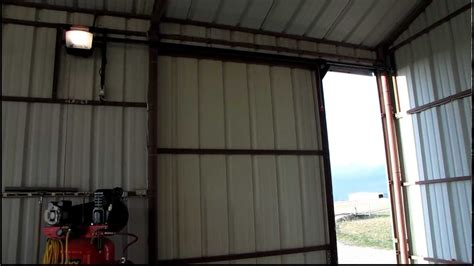 Barn Style Garage by 10 X10 Sliding Door Opener Youtube