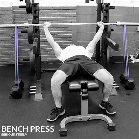 bench press with resistance bands workout bench press to the and form of on pinterest