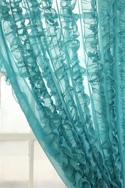sheer ruffled curtains 253 best images about turquoise on pinterest