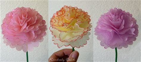 How To Make Carnations Out Of Tissue Paper - the enchanted gallery a tissue paper flower