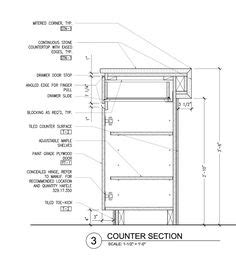 kitchen cabinet section bar counter detail drawing google search detale
