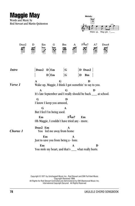 skye boat song strumming pattern maggie may sheet music by rod stewart ukulele with
