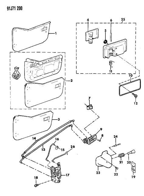 door half handles latches and rods wrangler