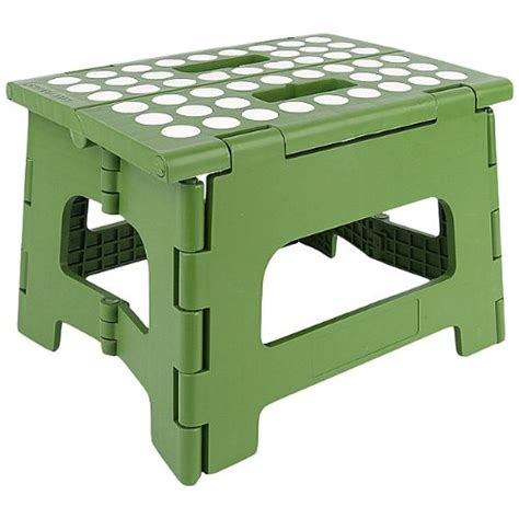 Green Step Stool by Kikkerland Easyfold Green Step Stool 8 5 Inches In Step