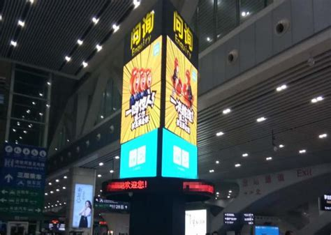 Lu Tanam Led Outdoor Waterproof Aluminium Dim 160mm p5 smd indoor advertising led signs 3 rolling cubes led display for shopping mall