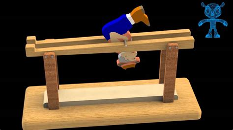 balancing barrister wooden toy  model youtube