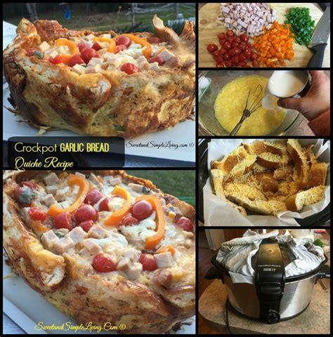 printable quiche recipes crockpot garlic bread quiche recipe sweet and simple living