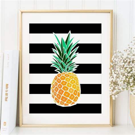 pineapple print tropical wall decor malibu mart