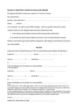 delega per delega ritiro alunno minore