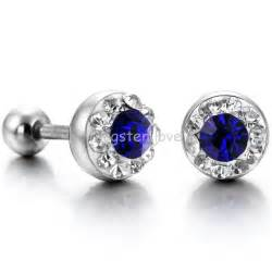 earrings for guys fashion shiny cubic zirconia cz 316l stainless steel mens stud earrings for stylish