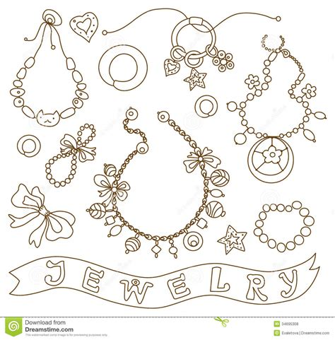 Printable Coloring Pages Jewelry | collection of womens jewelry coloring 5 pinterest