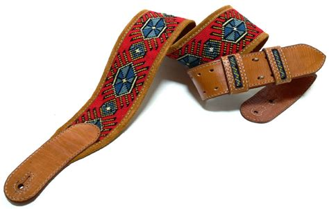 Upholstery Factory Tapestry Leather Guitar Strap
