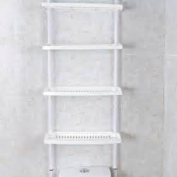 Plastic Bathroom Storage White Plastic Assemblable Bathroom Shelves Toilet