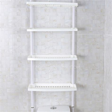 white bathroom shelving white plastic assemblable bathroom shelves over toilet
