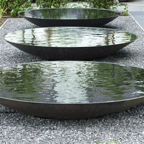 large water bowl steel water bowl the pot company garden plant pots garden planters planters