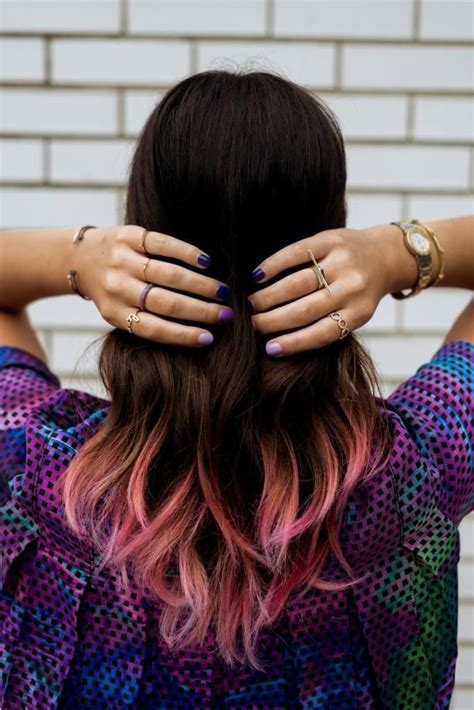 hairstyles to hide dip dyed ends best 25 pink dip dye ideas on pinterest dip dyed hair