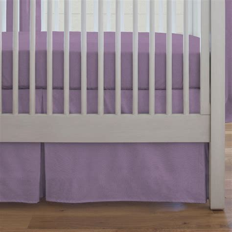 Solid Aubergine Purple Crib Skirt Box Pleat Carousel Designs Solid Lavender Crib Bedding
