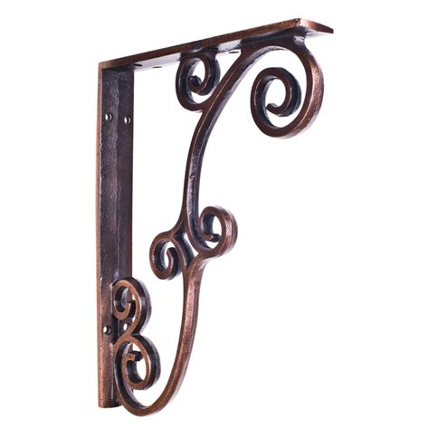 Rustic Wrought Iron Shelf Brackets by Jeffrey Rustic Iron Bar Bracket Mcor3blk