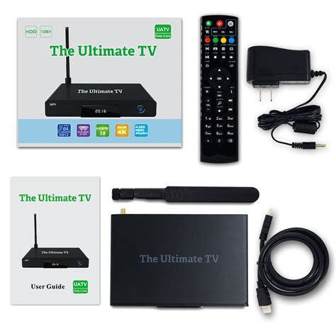 the official ultimate tv uatv box with hdtv antenna for local channels in hd the ultimate tv