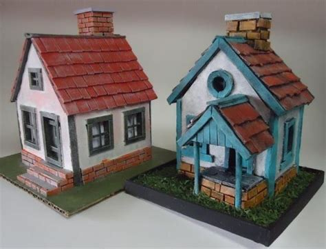 house diorama 2 mini house paper models for diorama free templates download