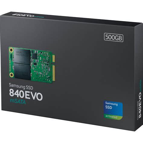 samsung 500gb 840 evo msata solid state mz mte500bw b h