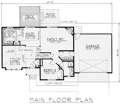exciting multi level house plan 14010dt 2nd floor