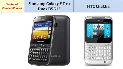 samsung galaxy y pro duos b5512 vs htc chacha specifications
