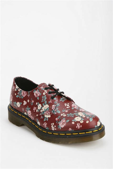 floral oxford shoes dr martens floral oxford in floral lyst