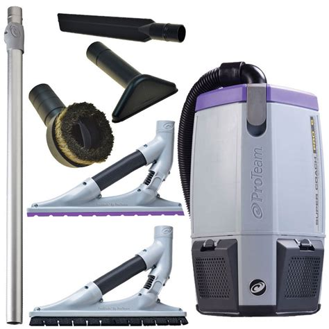 107535 coach pro 6 backpack vacuum w problade floor tool kit unoclean