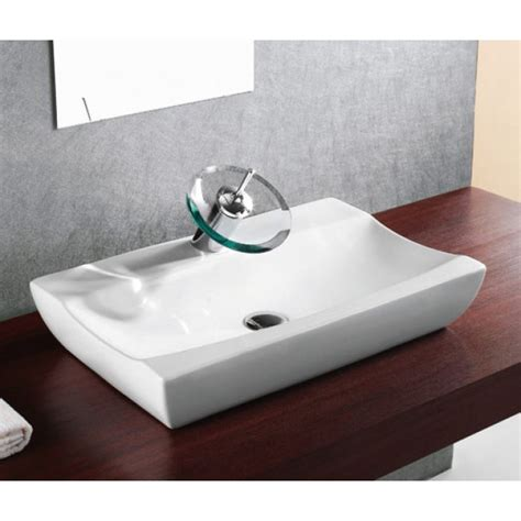 counter top bathroom sinks porcelain ceramic single hole countertop bathroom vessel