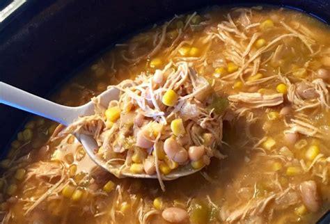healthy crockpot white chicken chili further food
