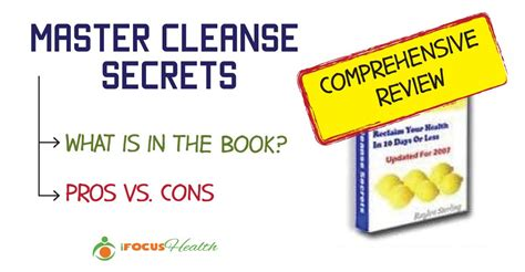 Pioneer Comprehensive Detox Diet by A Comprehensive Review Of Master Cleanse Secrets