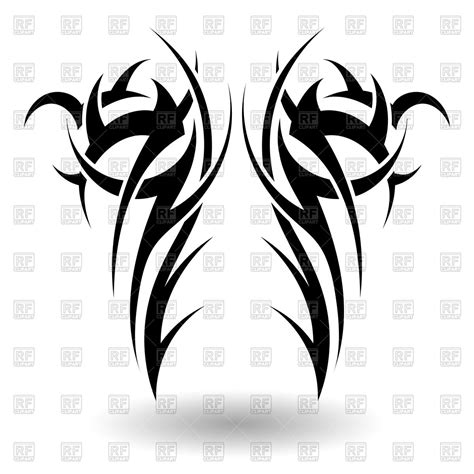 tattoo tribal wings designs vector tribal in wings shape royalty free vector clip
